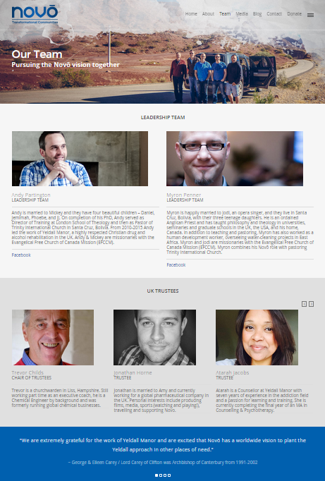 Website - Team Page Snip